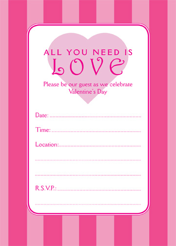 Valentines Day Party Invitation, VPIT-01