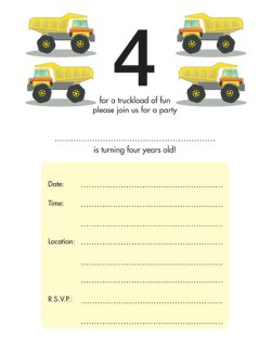 Children's Birthday Party Invitation - KBIF-14