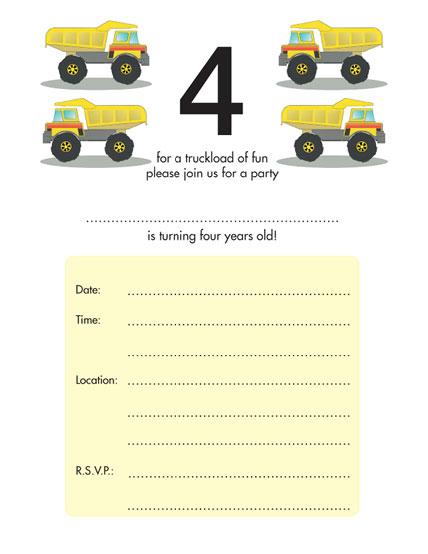 Children's Birthday Party Invitation - KBIF-14