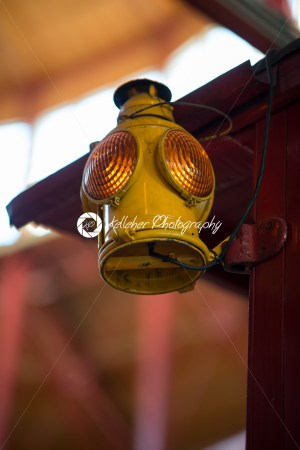 BALITMORE, MD – APRIL 15: Old Fashion Signal Lamp hanging off of Caboose on April 15, 2017 - Kelleher Photography Store