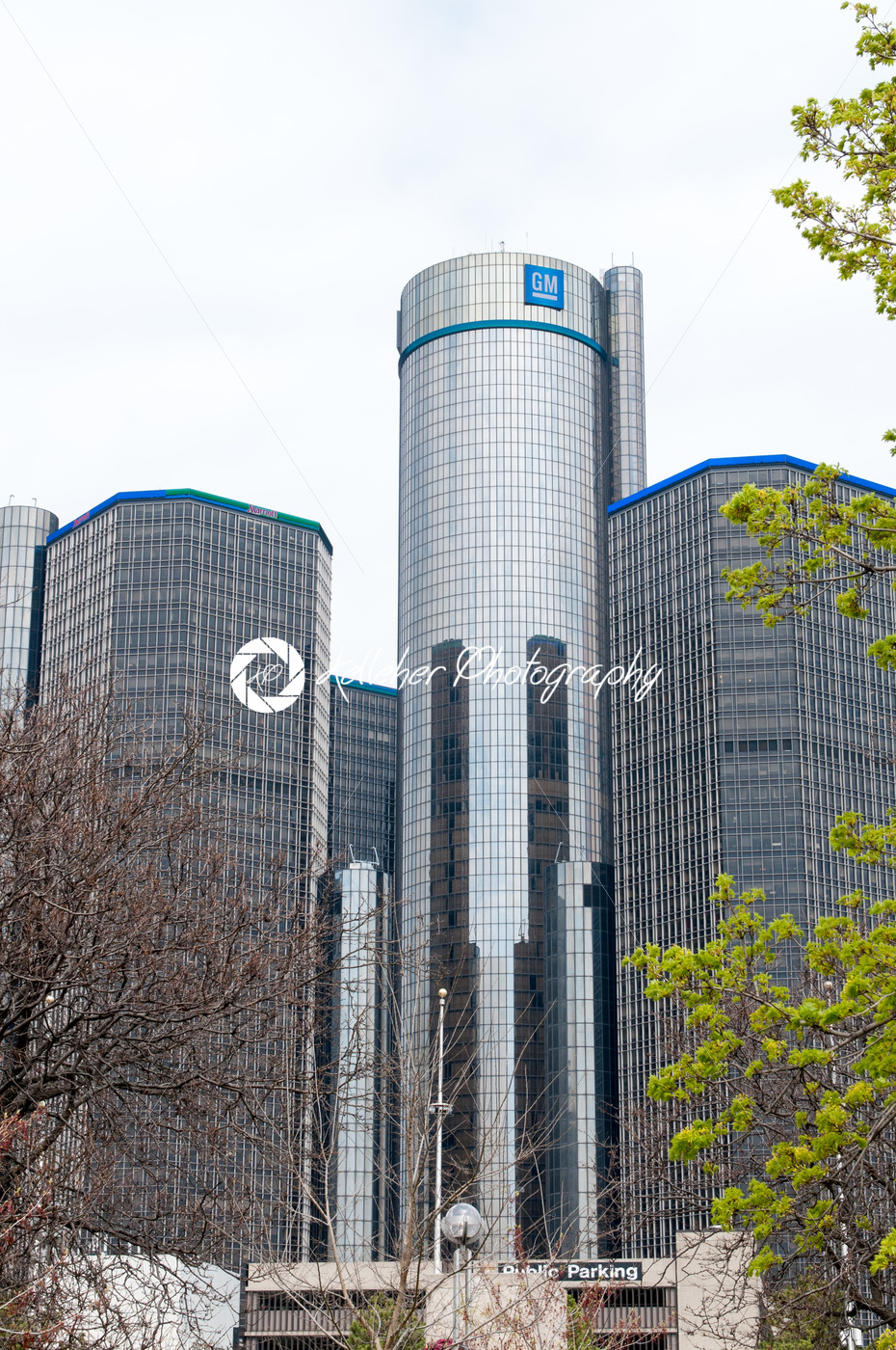 DETROIT, MI – MAY 8: General Motors World Headquarters where the majority of GM operations are based in downtown Detroit on May 8, 2014 - Kelleher Photography Store