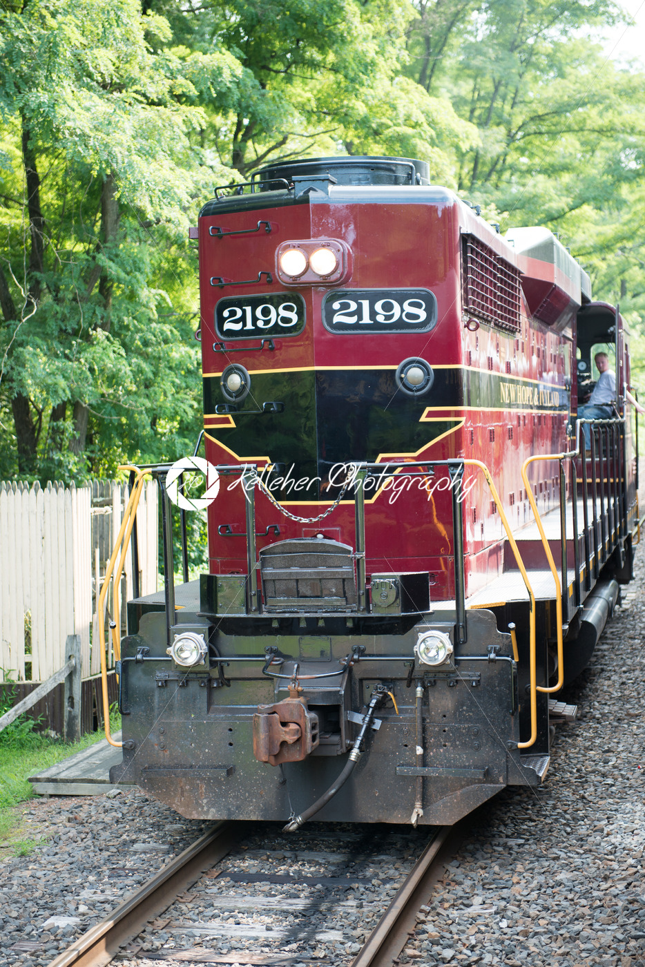 NEW HOPE, PA – AUGUST 11: The New Hope and Ivyland rail road is a heritage train line for visitors going on touristic excursions in Bucks County, Pennsylvania on August 11, 2013 - Kelleher Photography Store