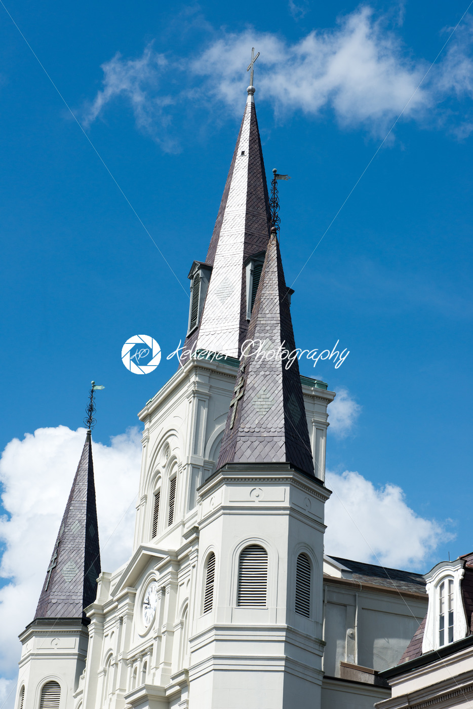 NEW ORLEANS, LA – APRIL 13: Beautiful architecture of Cathedral Basilica of Saint Louis in Jackson Square, New Orleans, LA on April 13, 2014 - Kelleher Photography Store