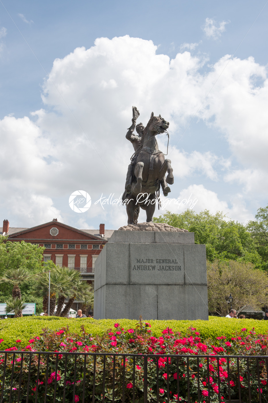 NEW ORLEANS, LA – APRIL 13: Statue of Andrew Jackson at the Jackson Square New Orleans on April 13, 2014 - Kelleher Photography Store