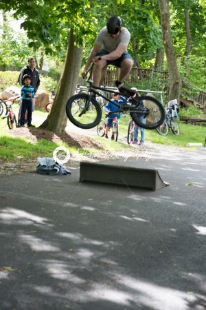 RADNOR TOWNSHIP, PA – MAY 7: BMX Stunt Performance by Chris Aceto at the Radnor Township Bike Rodeo on May 7, 2017 - Kelleher Photography Store