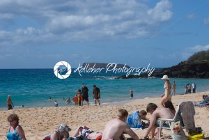 Beach life at Mokapu Beach Park on the Hawaiian island of Maui - Kelleher Photography Store