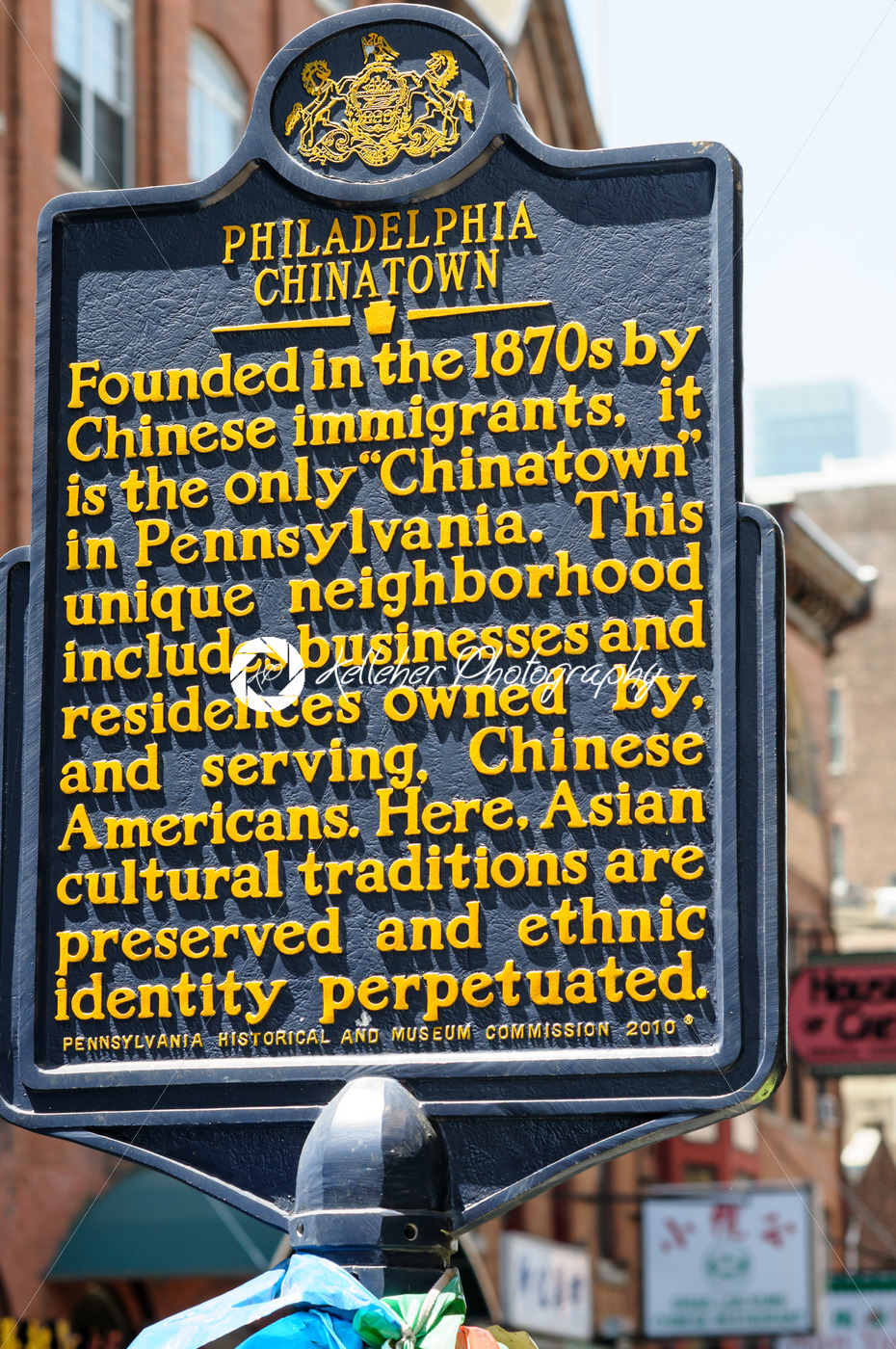 PHILADELPHIA, PA – MAY 14: Sign indicating the Chinatown section of downtown Philadelphia on May 14, 2015 - Kelleher Photography Store