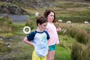 Boy and girl walking up the Slieve League Cliffs, County Donegal, Ireland - Kelleher Photography Store
