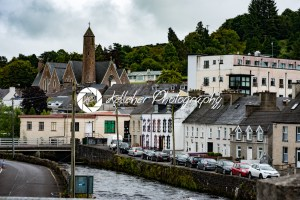DONEGAL, IRELAND – AUGUST 25, 2017: Buildings in the city center of Donegal Ireland - Kelleher Photography Store