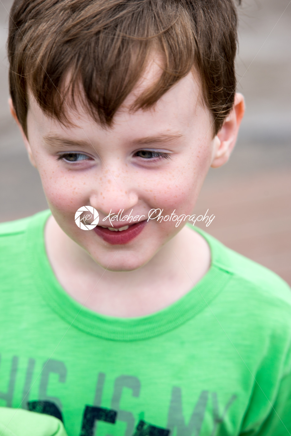 Young little boy portrait looking around - Kelleher Photography Store