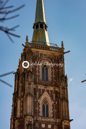 Wroclaw, Poland – March 9, 2018: Cathedral of St. John the Baptist on the Cathedral Island of Wroclaw in Poland - Kelleher Photography Store