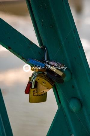 Wroclaw, Poland – March 9, 2108: Symbolic love padlocks fixed to the railings of grunwaldzki bridge, Wroclaw, Poland. - Kelleher Photography Store