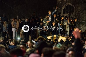 Villanova, Pennsylvania, USA. 2nd Apr, 2018. Students and fans celebrate Villanova University Men's Basketball team winning the NCAA championship - Kelleher Photography Store