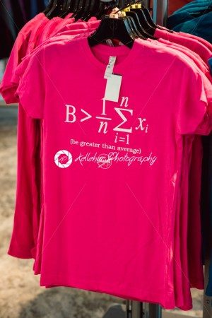Cape Canaveral, Florida – August 13, 2018: Be greater than average equation shirt at NASA Kennedy Space Center - Kelleher Photography Store