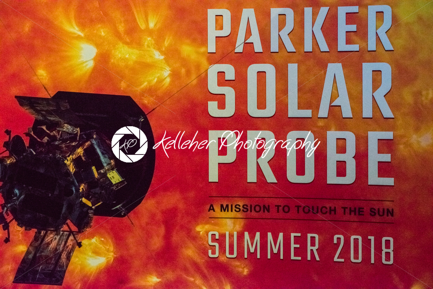 Cape Canaveral, Florida – August 13, 2018: Sign for Parker Solar Probe at NASA Kennedy Space Center - Kelleher Photography Store