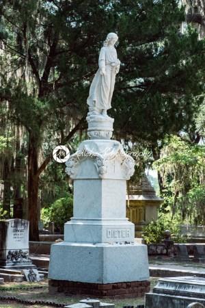 Dieter Cemetery Statuary Statue Bonaventure Cemetery Savannah Georgia - Kelleher Photography Store
