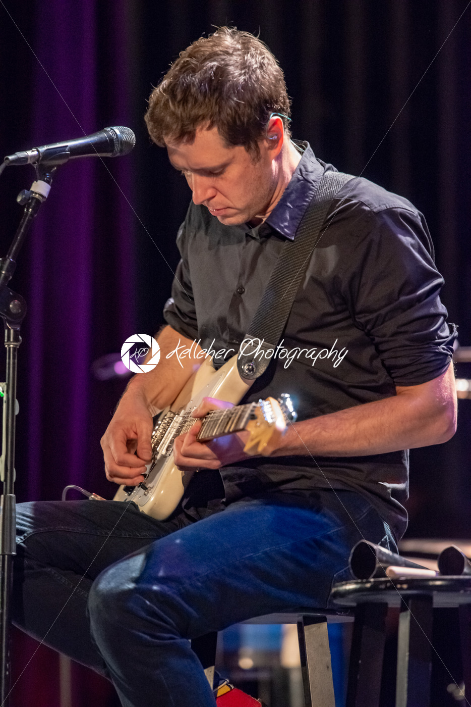 ITHACA, NY – NOVEMBER 4, 2018: Lead vocalist Guitarist Damian Kulash of the band OK Go performs on their Live Videos tour at the State Theatre of Ithaca - Kelleher Photography Store