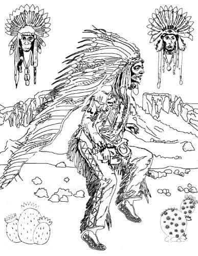 Native American Dances Coloring Article Download