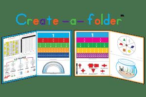 Sample usage of Create-a-Folder Math for customized study folders