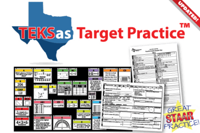 TEKsas Target Practice bulletin board and student sheets. Great STAAR Practice