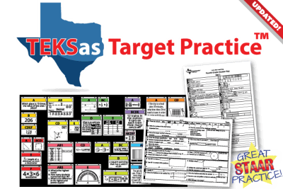 TEKsas Target Practice bulletin board and student sheets. Great STAAR Practice