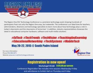 Region 1 ESC Technology Conference registration announcement