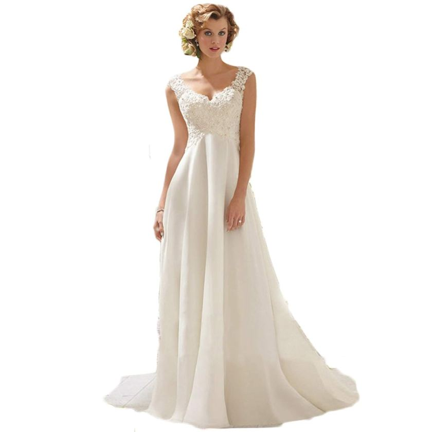 Plus Size Empire Waist Wedding Dress: Empire Waist Wedding Dress Amazon