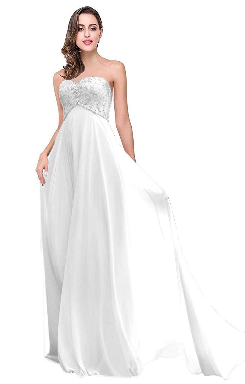 Empire Waist Wedding Dress Amazon
