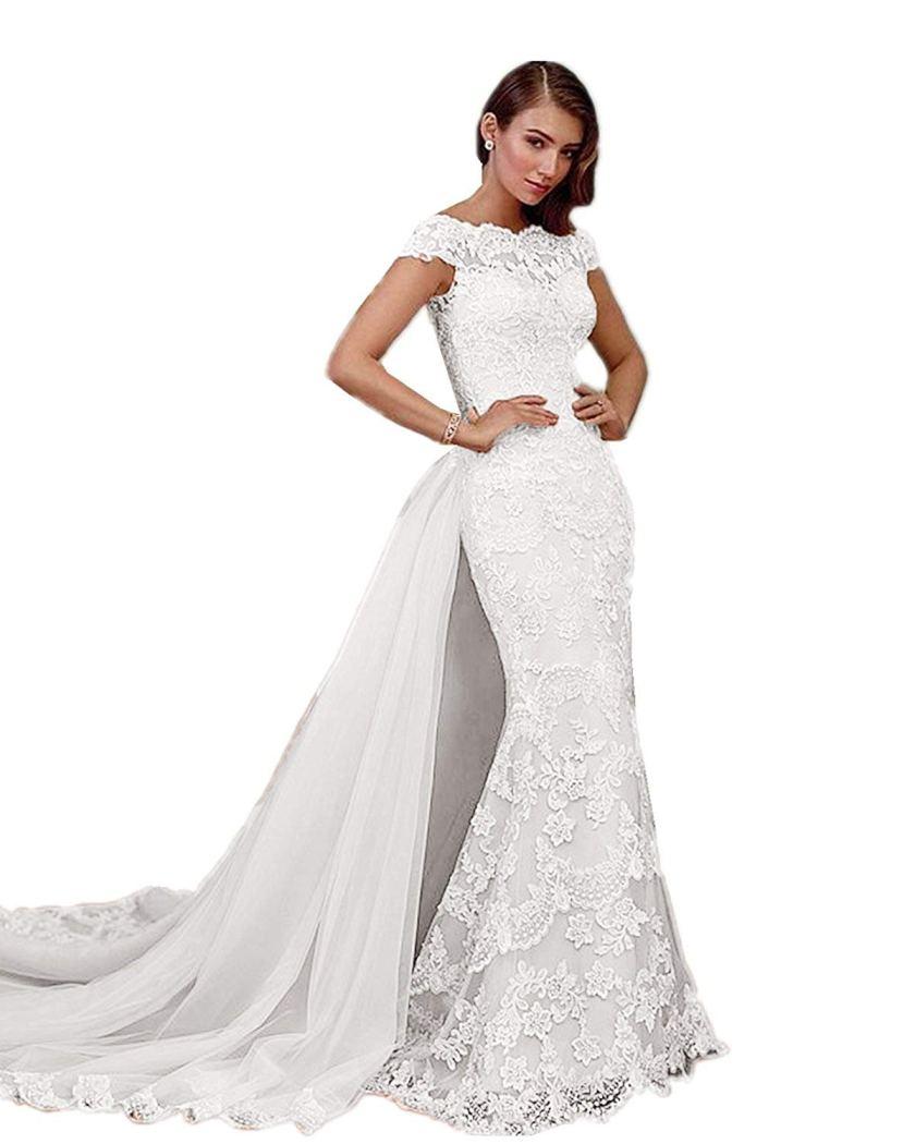 Mermaid Wedding Dress Amazon