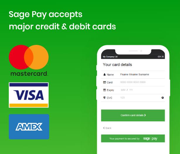 support major card brands