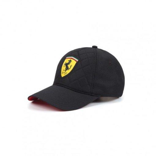 Cappellino Ferrari sportivo nero laterale
