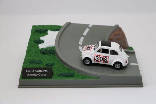 Hachette 143 Fiat Abarth 695 Assetto Corsa DIORAMA scaled