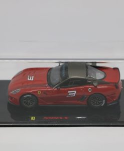 Hotwheels Elite 143 Ferrari 599XX Rosso corsa lato scaled