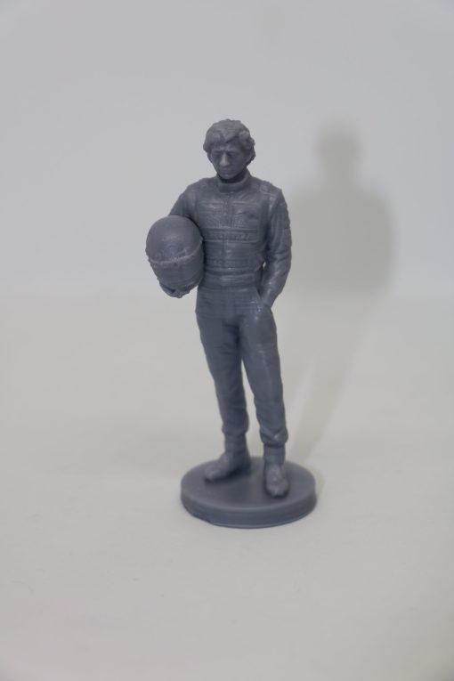 Statuetta Ayrton resin 10cm scaled