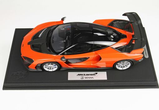 McLaren Senna 118 BBR Models Made in Italy Resin Include plexiglass case e box Limited edition 30 pcs 1