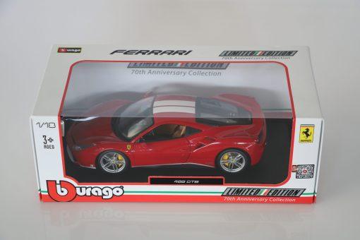 Bburago 118 Ferrari 488 GTB 70th anniversary Collection scaled