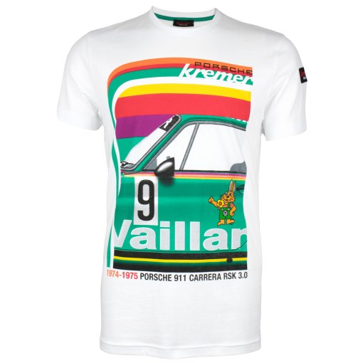 T shirt Porsche Kremer Racing Carrera N. 9 Bianca