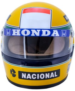 Mini Helmet Ayrton Senna Formula Uno 1988 McLaren scala 12 FRONTALE