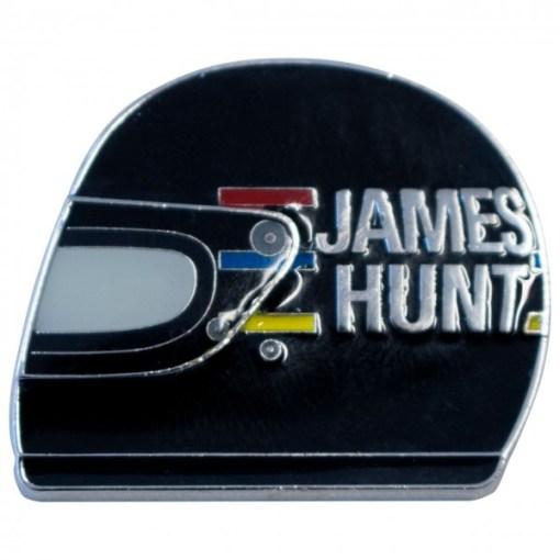 Spilla metallo James Hunt casco 1976 35x30 mm 1