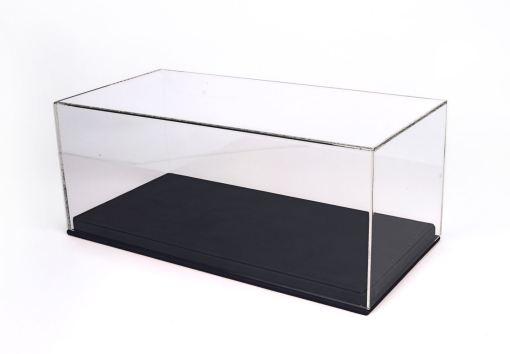 Vetrina in Plexiglass con base Ecopelle nera Modellini BBR scala 1 18