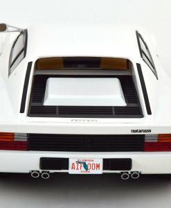 Modellino Ferrari 1 18 Testarossa Monospecchio KK bianco retro 2