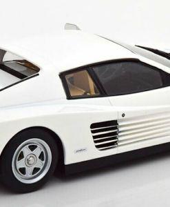 Modellino Ferrari 1 18 Testarossa Monospecchio KK bianco retro