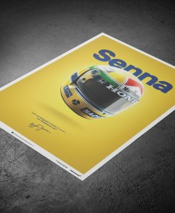 Poster Ayrton Senna Helmet San Marino GP 1988 McLaren MP44 50x70cm 2