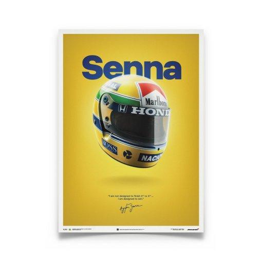 Poster Ayrton Senna Helmet San Marino GP 1988 McLaren MP44
