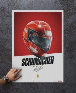 Poster Casco Michael Schumacher F1 2000 2