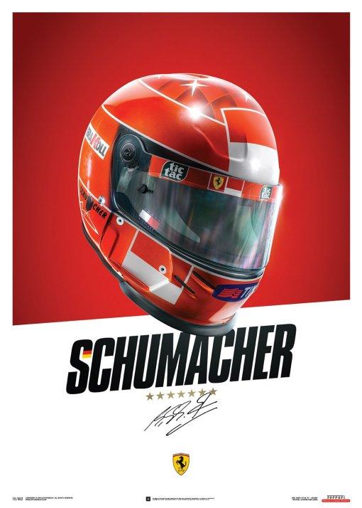 Poster Casco Michael Schumacher F1 2000
