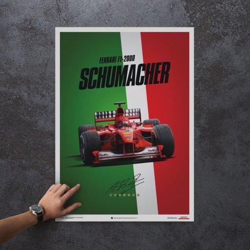 Poster Michael Schumacher Ferrari F1 2000 Monza Gp 3