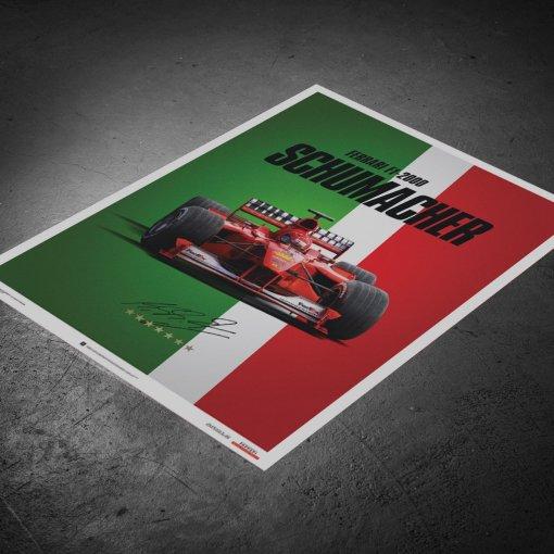 Poster Michael Schumacher Ferrari F1 2000 Monza Gp