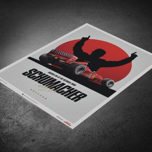 Poster Michael Schumacher Japan Suzuka GP 2000 50x70cm 2