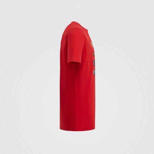T shirt Bambino Scuderia Ferrari Grafica F1 lato